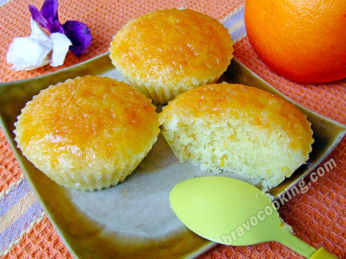 Steamed orange muffins recipe