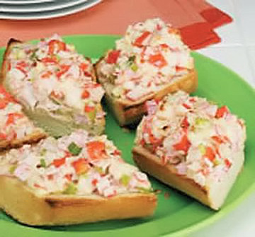 Crostini Crab Salad