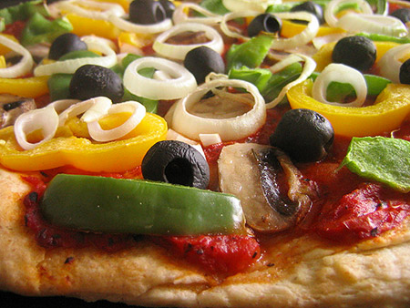 pizza vegetables