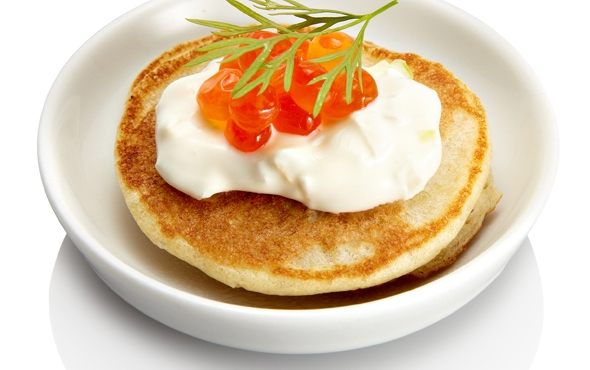 Yeasted Blini with Caviar