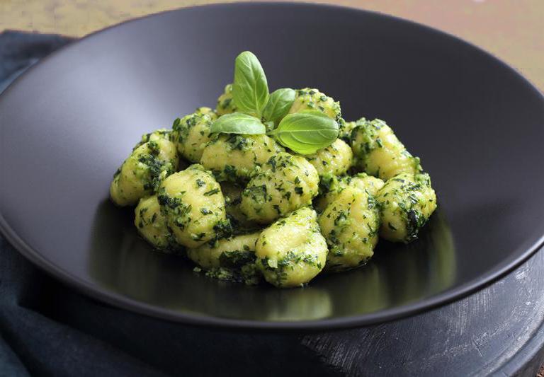 Potato Gnocchi With Pesto Sauce